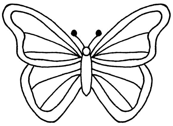 Best Butterfly Outline 1174 Clipartion Com