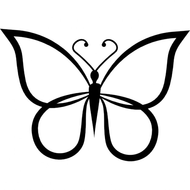 Butterfly Outline Vectors Photos And Psd Files Free Download
