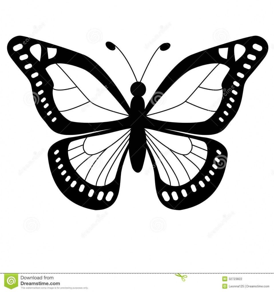 Butterfly Outline - Clipartion.com