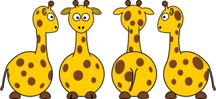 Cartoon Giraffe Clip Art Free Vector In Open Office Drawing