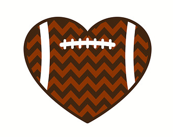 Chevron Football Heart Dxf E Ditable Die Cut S For Cricut
