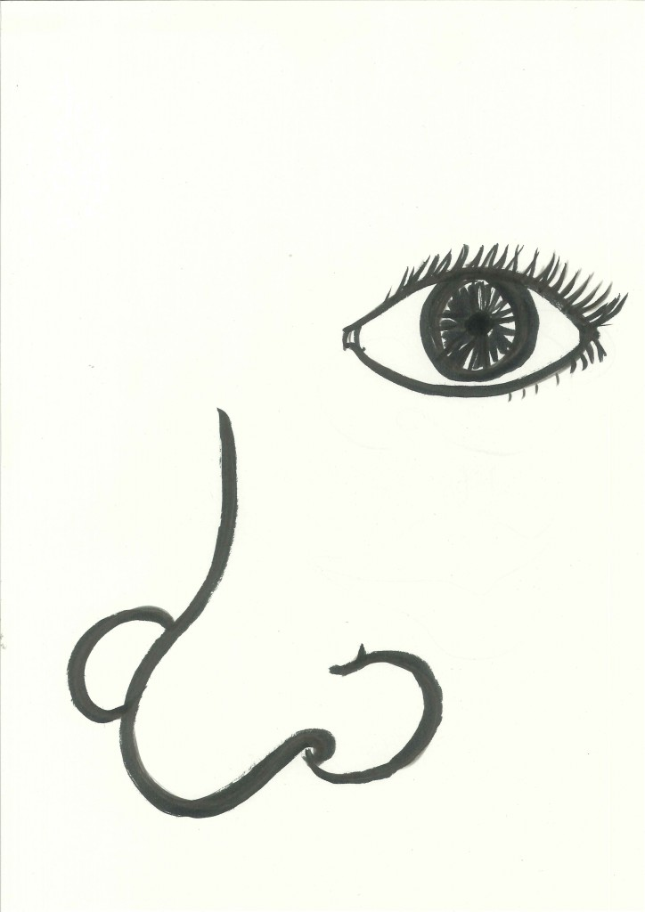 nose clipart black and white - photo #44