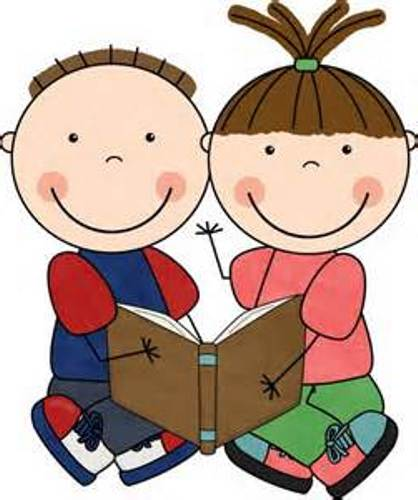 Children Reading Clip Art