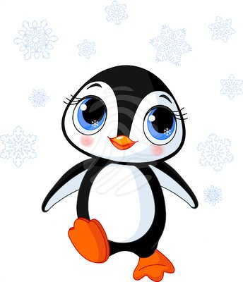 Christmas Penguin Clipart Black And White Free