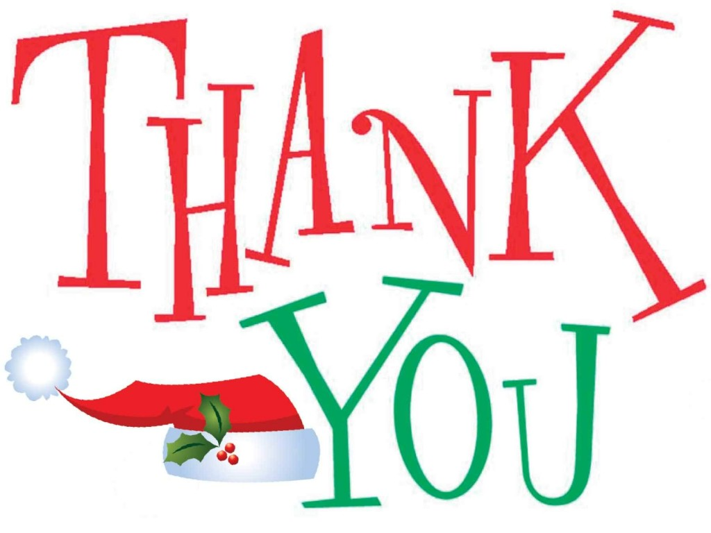 Christmas Thank You Clipart Free Insharepics
