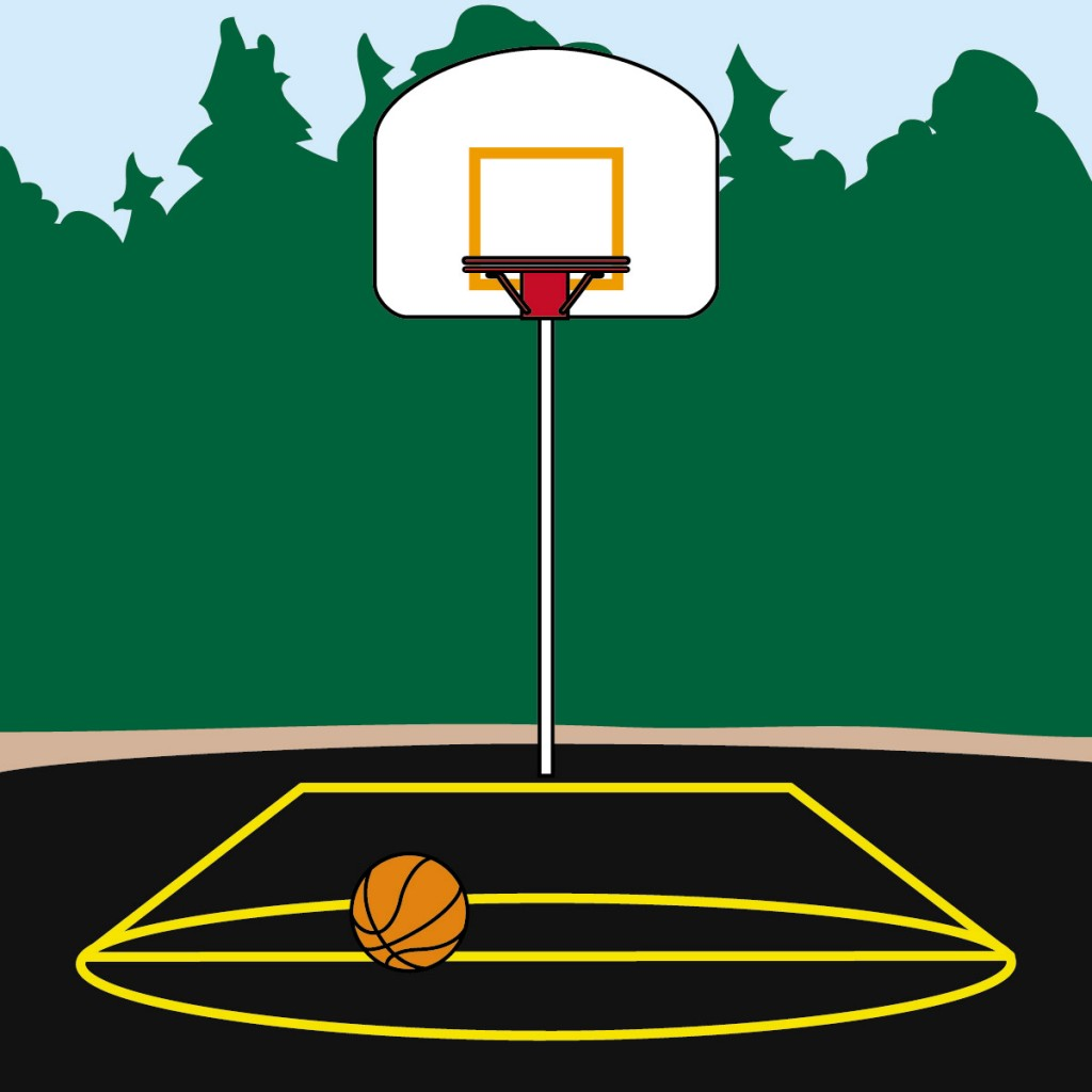 Clip Art Basketball 1 B Amp W Abcteach