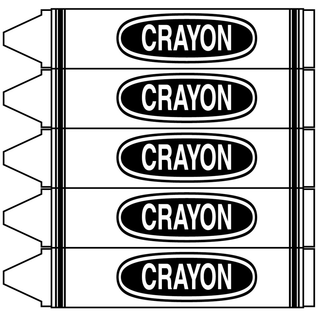 Crayon clipart for Crayon labels template