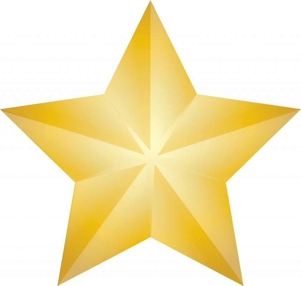 Clip Art Illustration Of A Shining Gold Christmas Star St