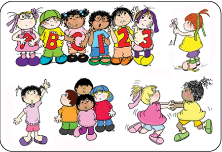 Clip Art Kids At School Home Play