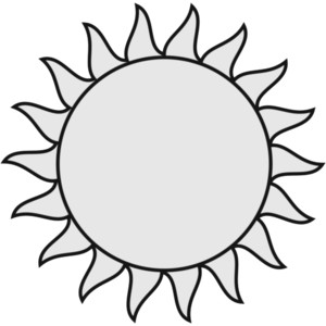 Best Sun Clipart Black And White #1817 - Clipartion.com