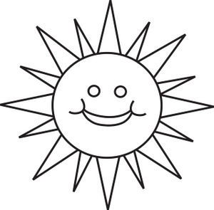 Cliparti1 Sun Clipart Black And White