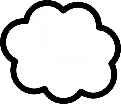 Cloud Clip Art Free Vector In Open Office Drawing