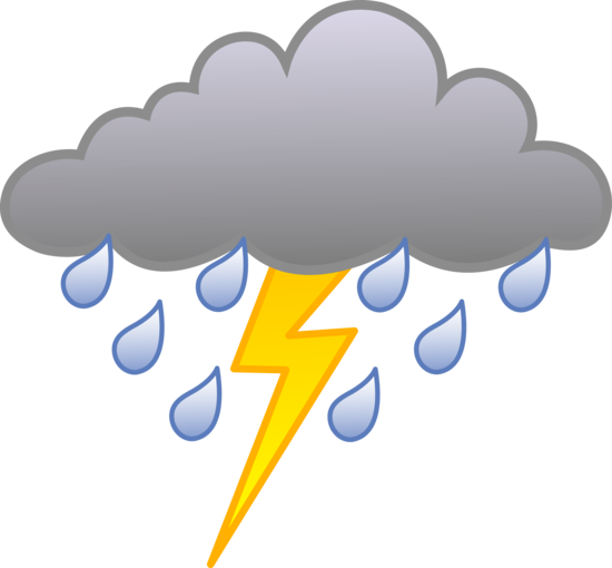Cloud With Lightning Bolt Clip Art Icon Free Icons