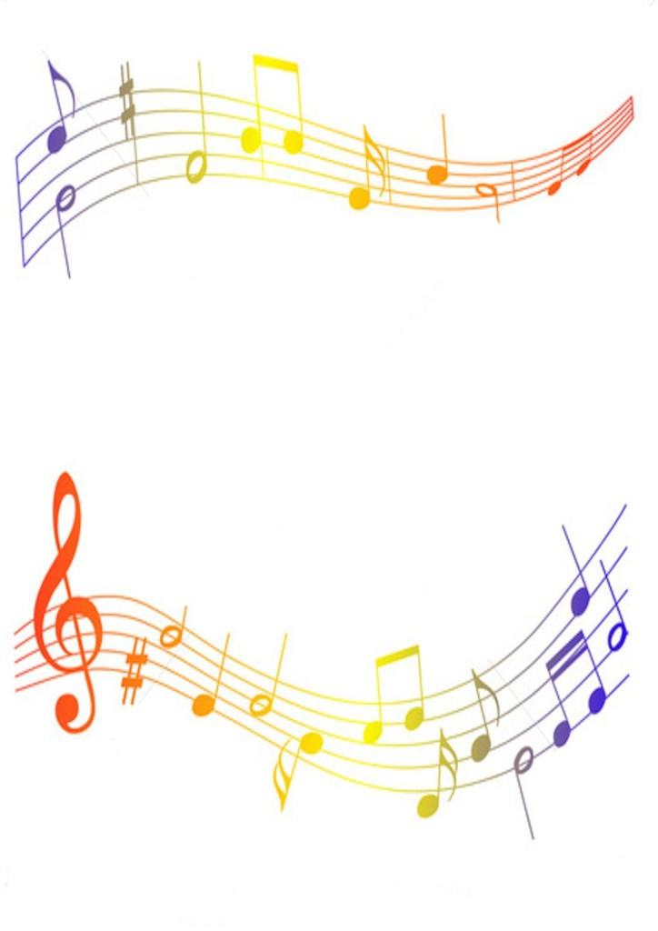 Music note border for Schoolhouse music