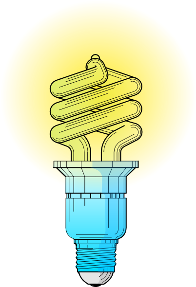 Compact Fluorescent Light Bulb Clip Art At Vector Clip
