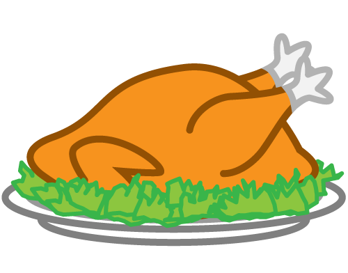 Cooked Turkey Clipart Black And White Free