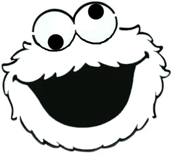 Best cookie monster clip art 4761 for Printable elmo cake template
