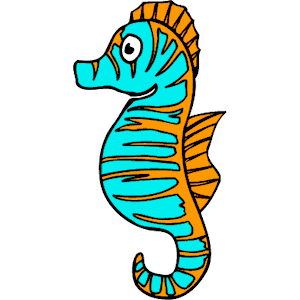 Cool Free Cartoon Seahorse Clipart