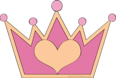... copies of this cute princess crown clipart – at least two per guest