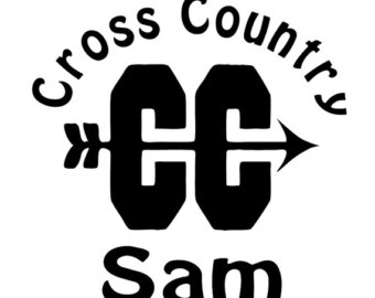 Cross Country Decal Etsy