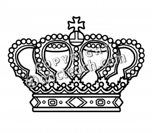 Crown black and white clipart - photo#11