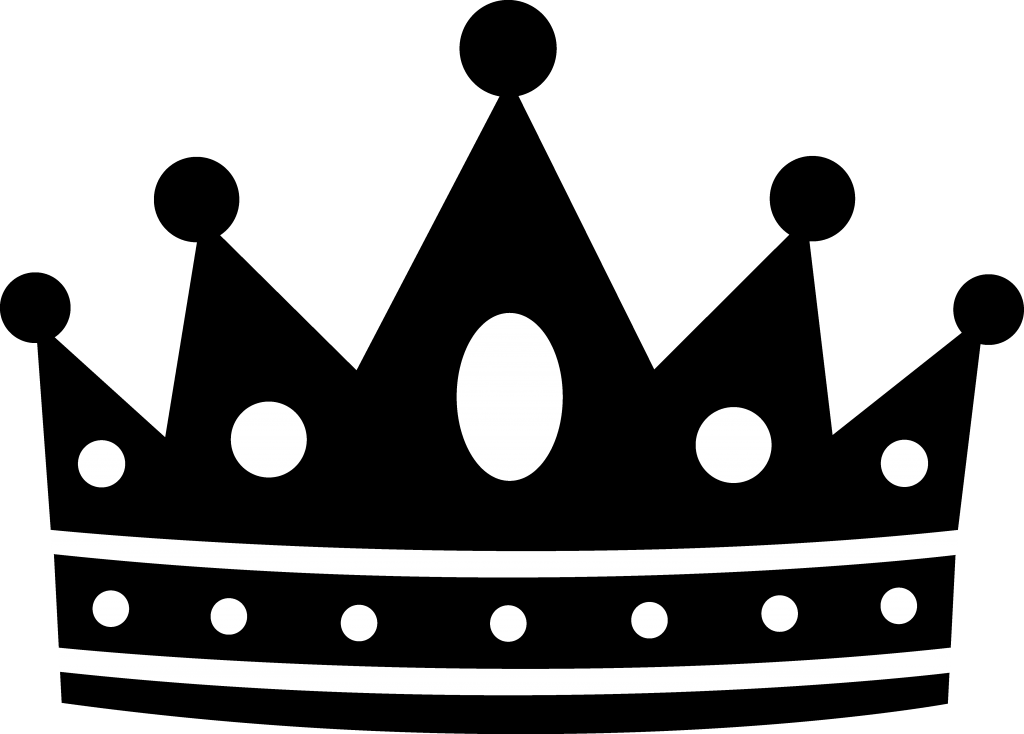 Crown black and white clipart - photo#27