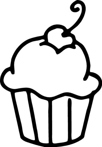Clip Art Cupcake Clipart Black And White cupcake clipart black and white clipartion com clip art images for happy birthday