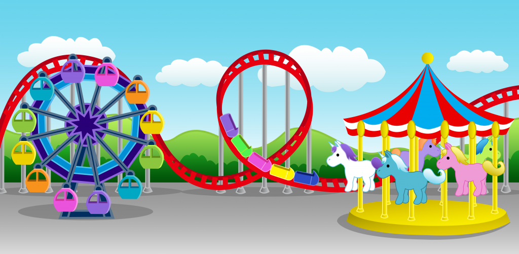 Cute Colorful Amusement Park Free Clip Art