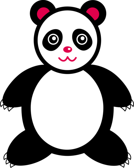 Cute Giant Panda Bear Free Clip Art