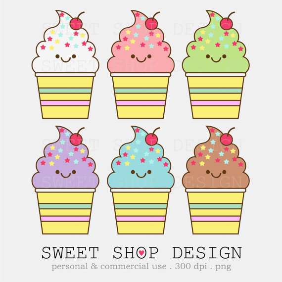 Cute Ice Cream Clipart Bakery Clipart Babysweetshopdesign