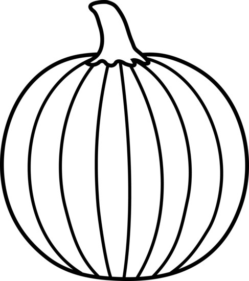 Cute Pumpkin Clipart Black And White Images
