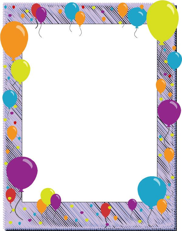 Decorative Backgrounds For Word Documents Birthday Page Borders