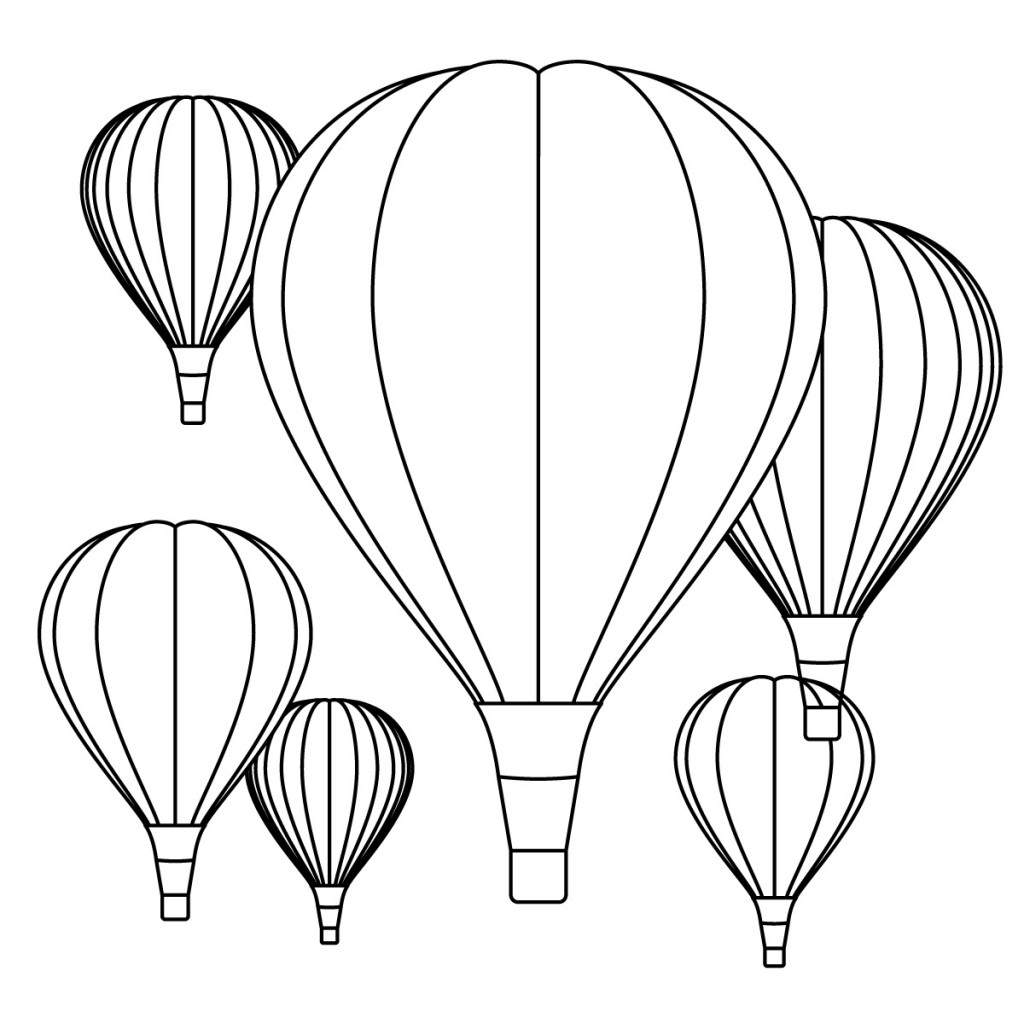 Detailed Hot Air Balloon Coloring Page Free