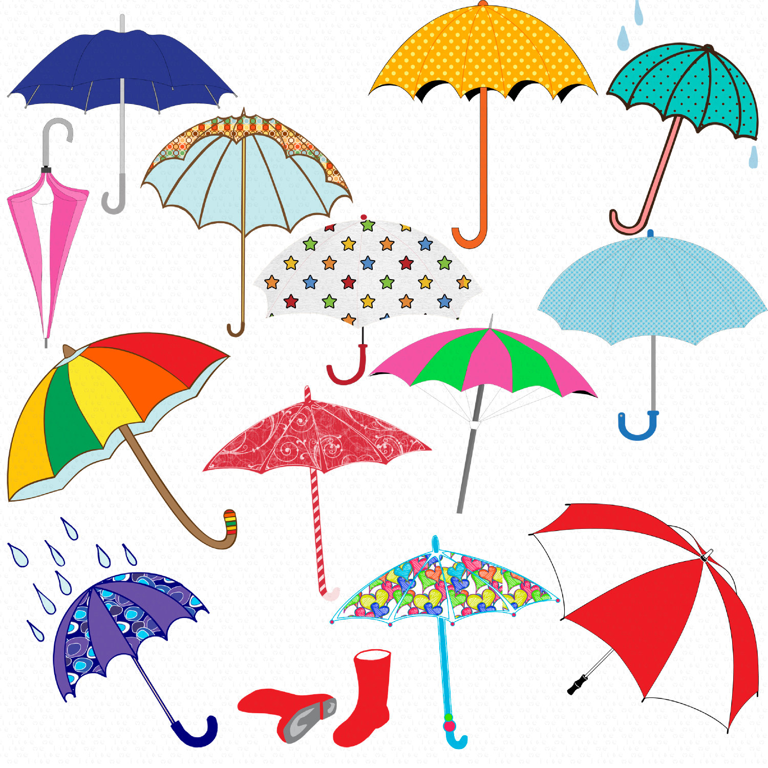 Digital Download Discoveries For Umbrella Clip Art From Easypeach Com