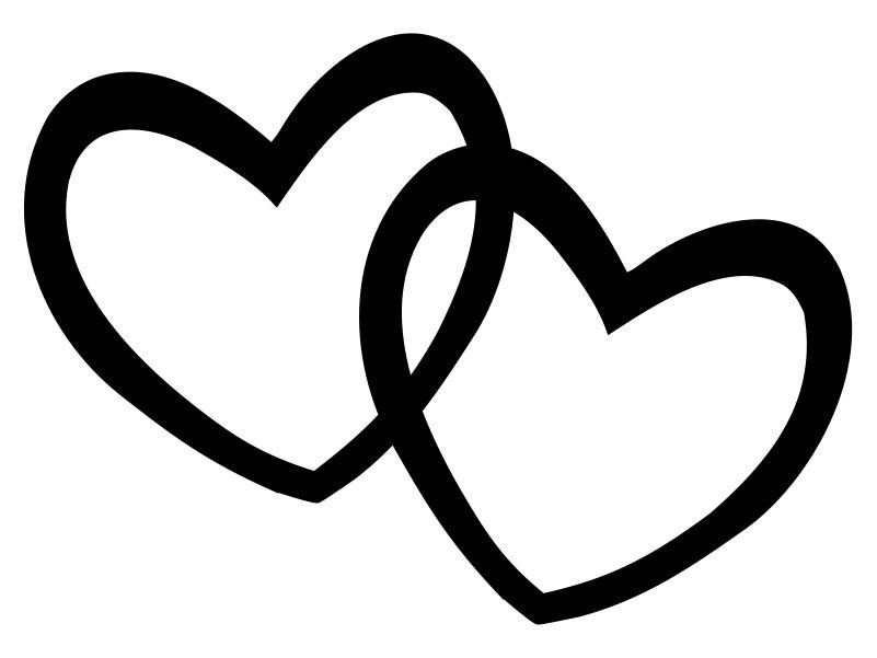 Double Heart Outline Clipart