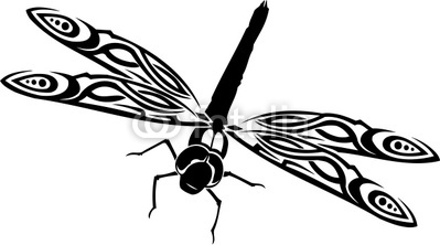 Best Dragonfly Outline #5049 - Clipartion.com