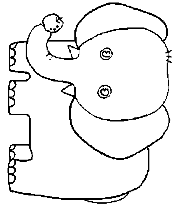 Elmer The Elephant Coloring PageSneak Peek Full Elmer