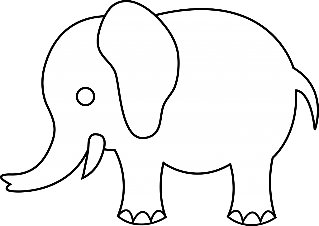 Elephant Outline - Clipartion.com