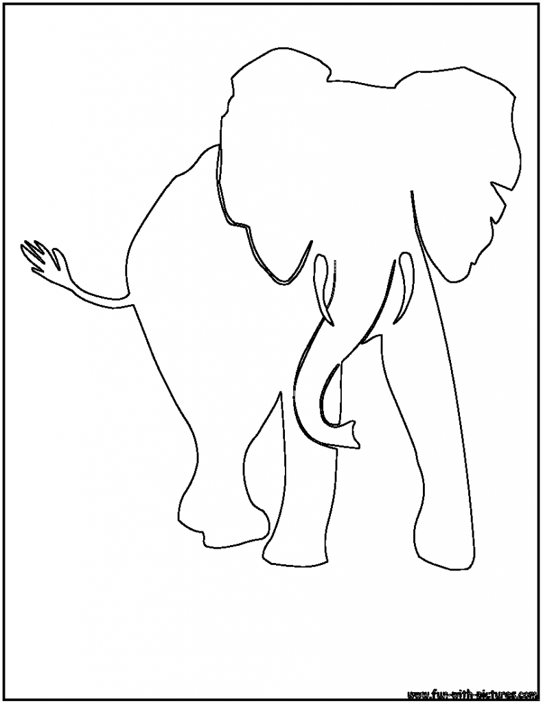 D Line Drawings : Elephant outline clipartion