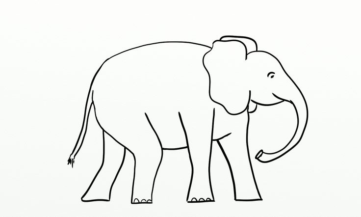 Elephant Outline Png 1 1 Pixels Card Project Pinterest