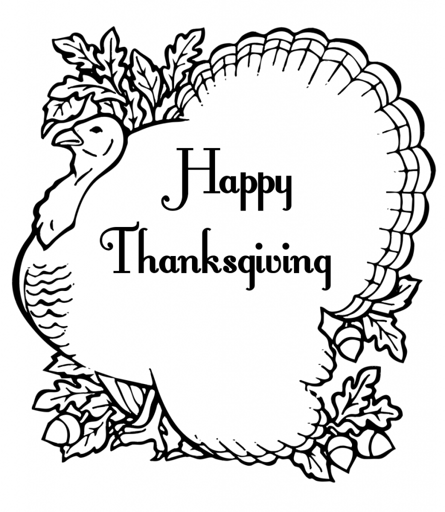 Excellent Happy Thanksgiving Clip Art Black And White