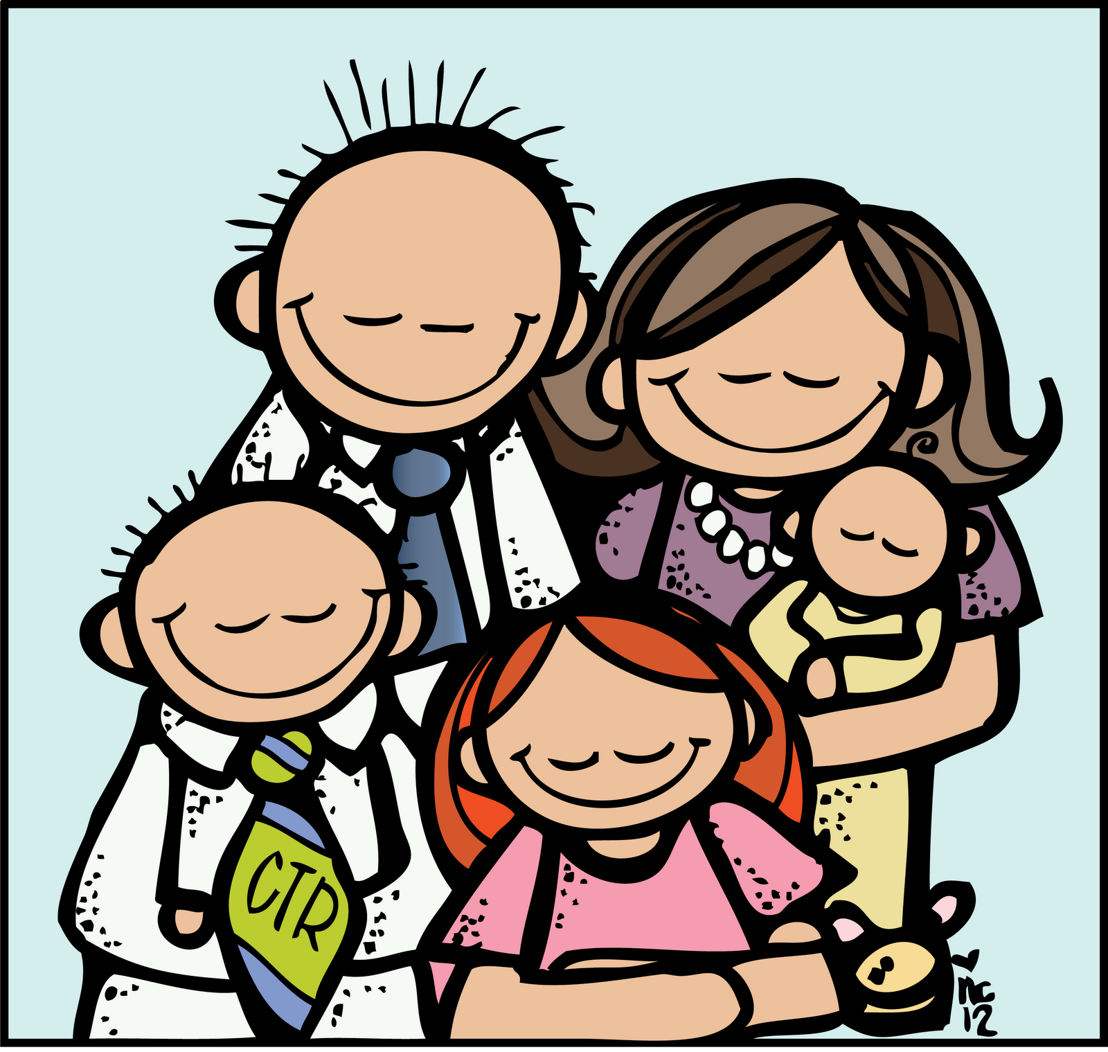 Free Black And White Family Clipart