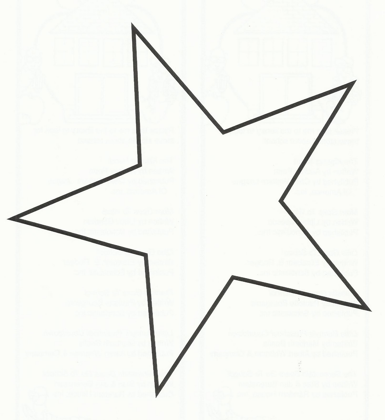 Fantastic Star Outline Printable Coloring Pages Gallery