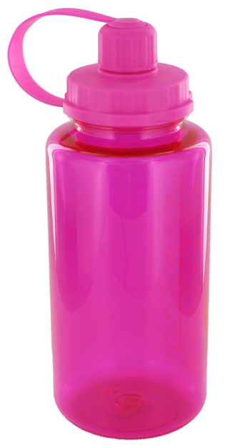 Pink Plasic Bottle Drink