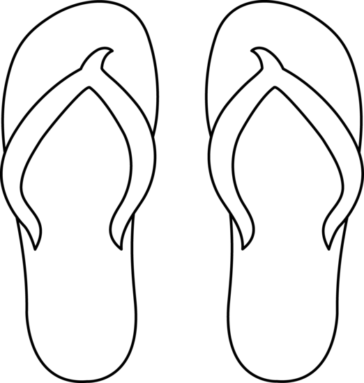 Flip Flops Clipart Black And White Free Clipart