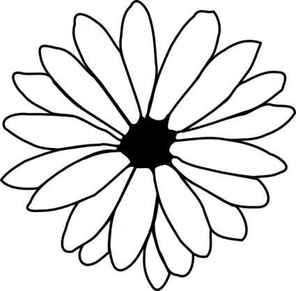 Flower Outline Clip Art Free Vector In Open Office Drawing