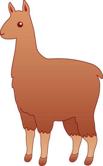 Fluffy Brown Llama Clipart Free Clip Art Images