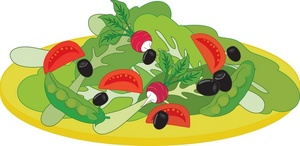 Food Clipart Image Mixed Salad