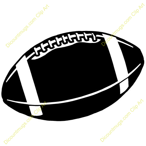 Football Clip Art Black And White Free Clipart