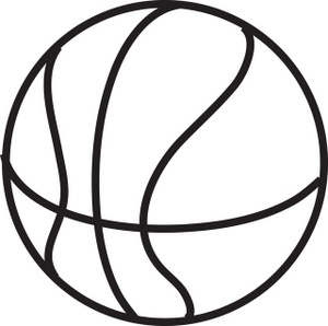 Free Basketball Clipart Black And White Free